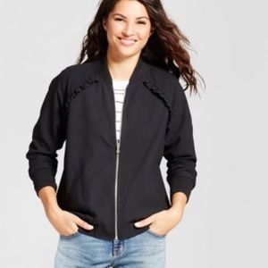 A NEW DAY Ruffled Bomber Jacket